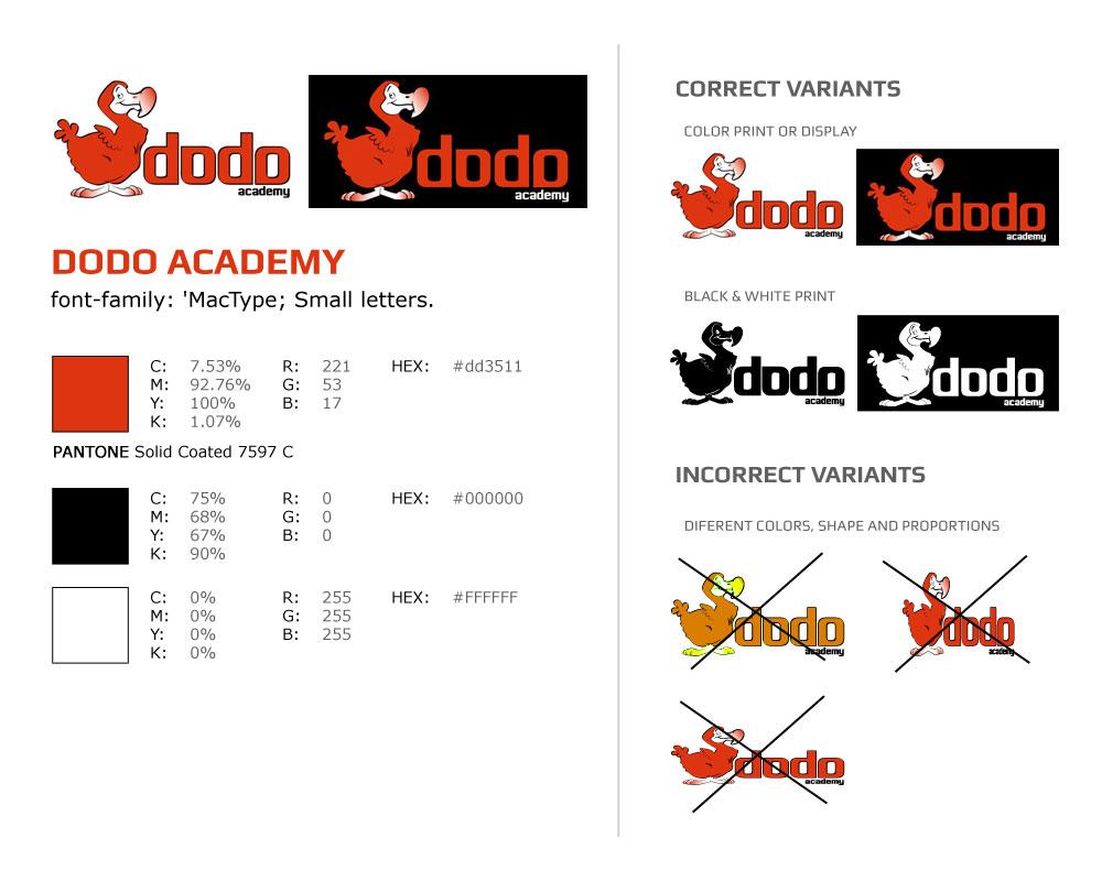 Корпоративна идентичност - лого Dodo Академия