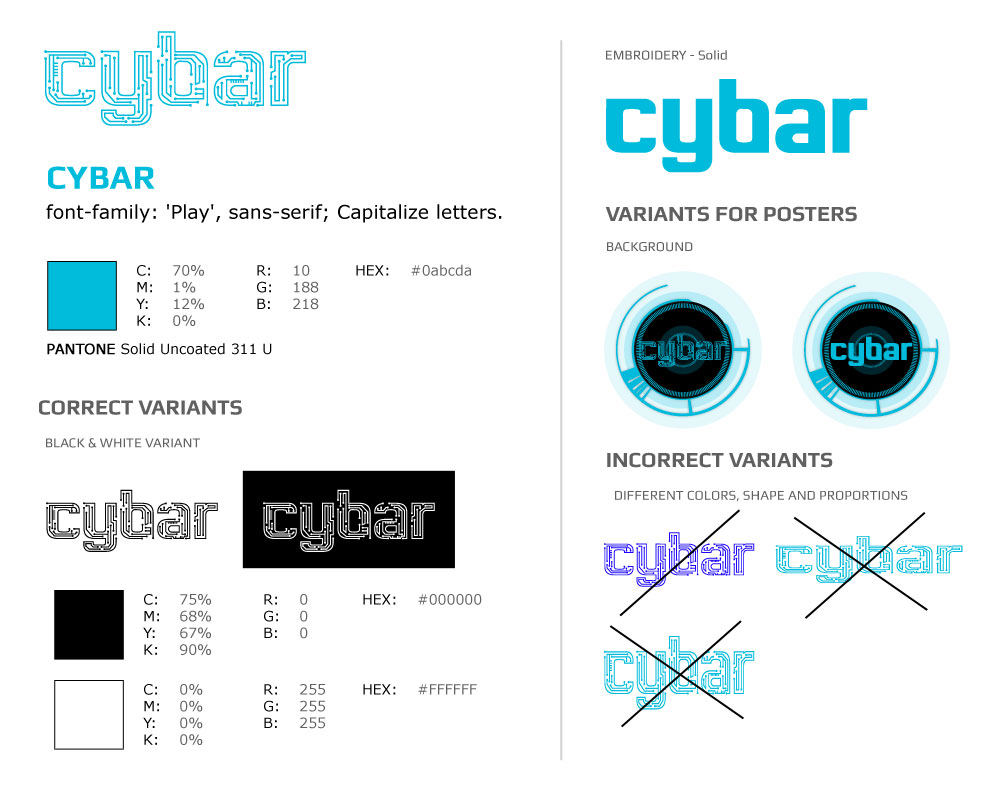 Corporate Identity -  Cybar logo